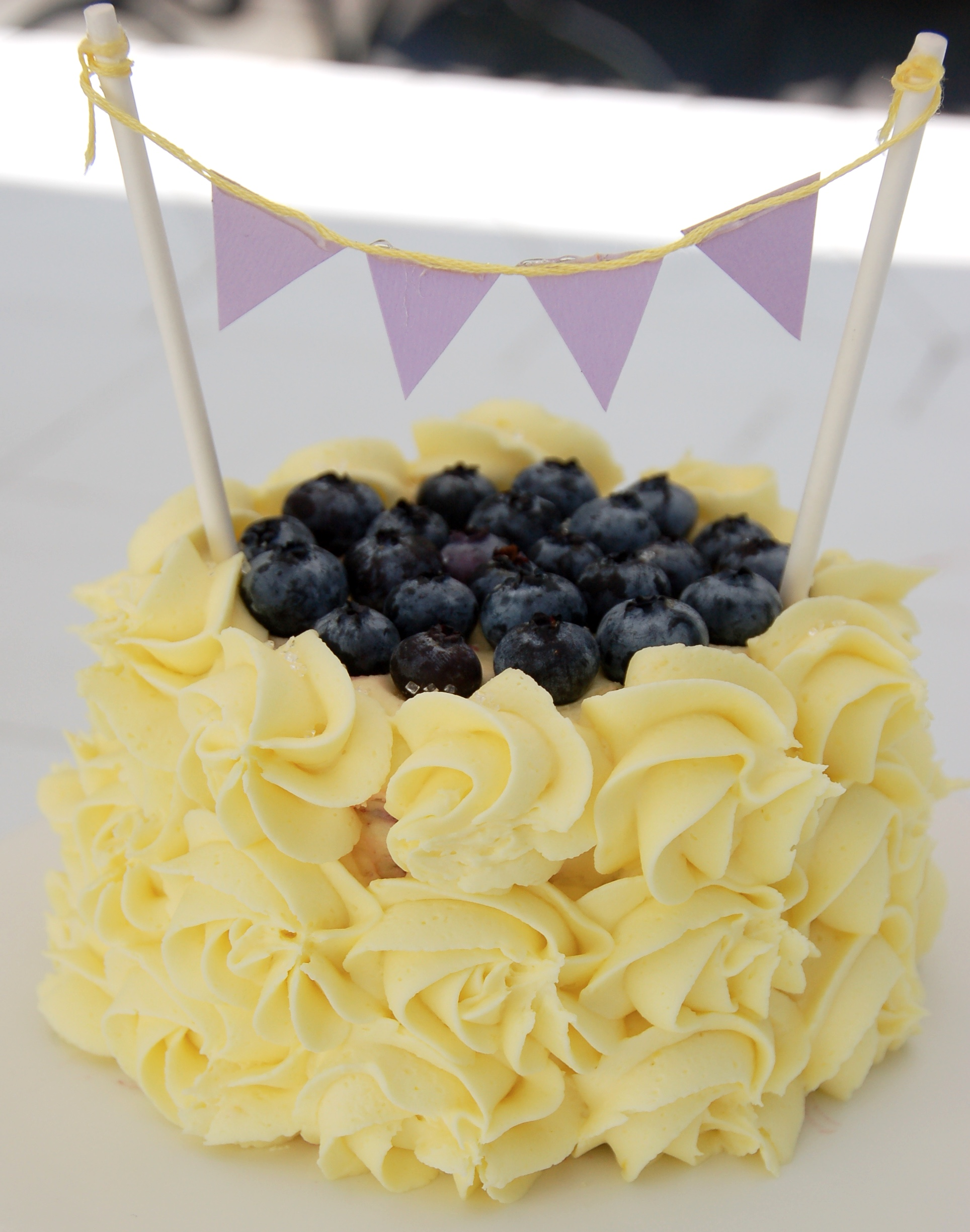 Lemon Blueberry Sunshine Cake